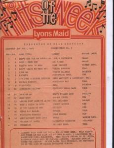 Lyons Maid - Hits Of The Week - 02 July 1977