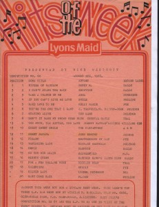 Lyons Maid - Hits Of The Week - 5 August 1978